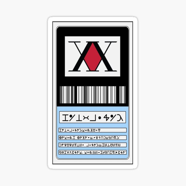 Hunterxhunter license Sticker