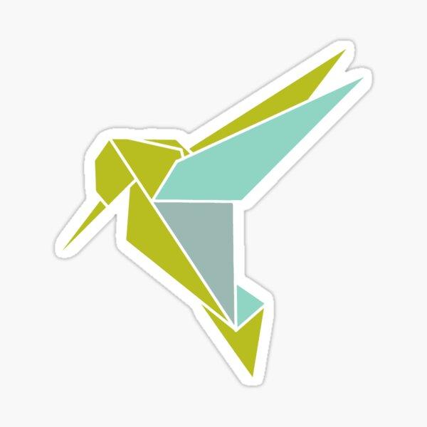 Origami Hummingbird Illustration Sticker