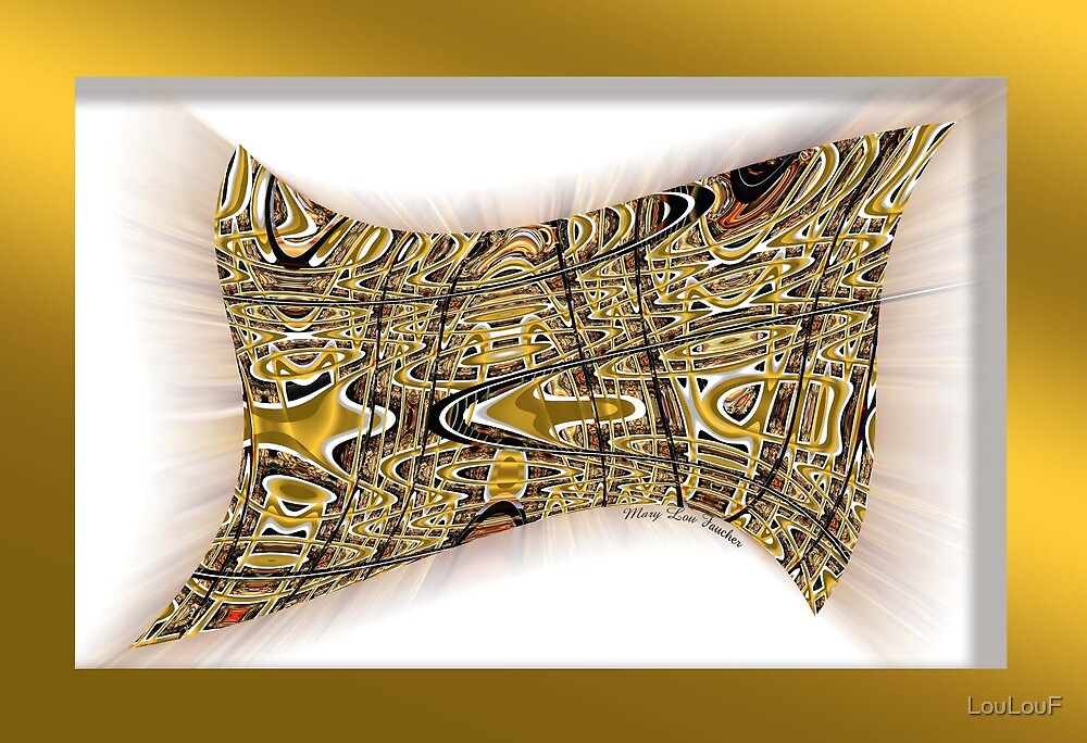 Gold Abstract Design by LouLouF