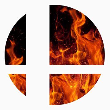 Smash Bros Flames by SM1239