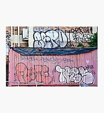 Abstract Graffiti in the grunge wall and sea container Photographic Print