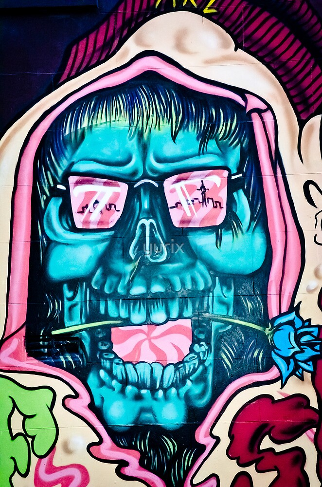 Welcome to Jolly Hallucinogenic 1969. Skull Graffiti  by yurix