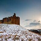 Crichton Castle in the Snow by Stuart Robertson Reynolds