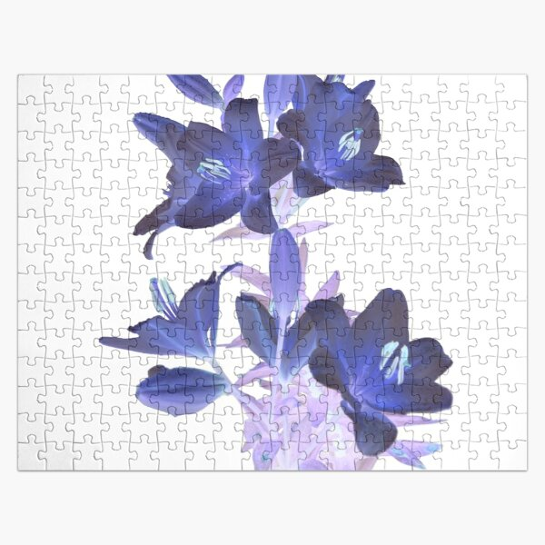 Lilies on a White Background Jigsaw Puzzle