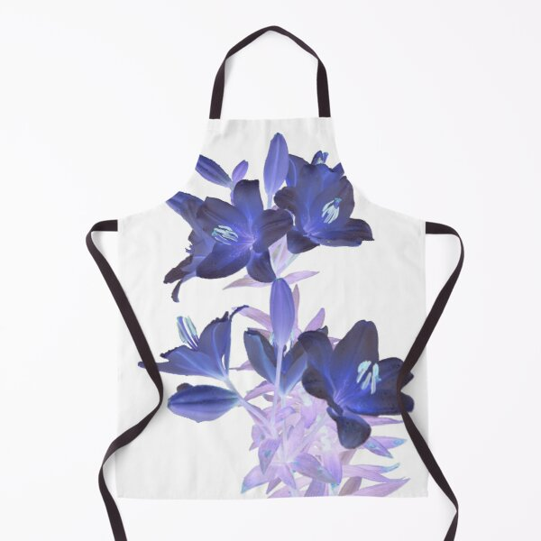 Lilies on a White Background Apron