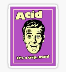 Funny Retro Acid Ad Sticker