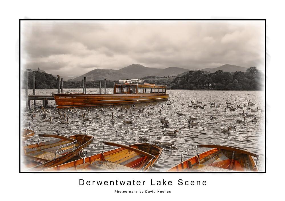 Derwentwater Lake Scene by DavidWHughes