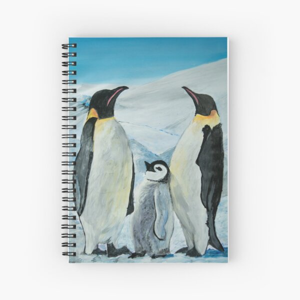 The Penguin Family  Spiral Notebook