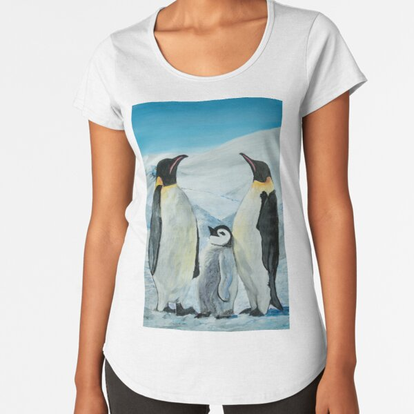 The Penguin Family  Premium Scoop T-Shirt
