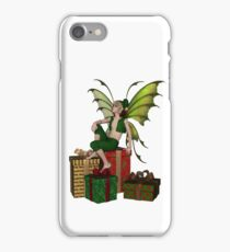 Christmas Fairy Elf Boy Sitting on a Pile of Presents iPhone Case/Skin
