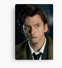 The 10th Dr Who Canvas Print