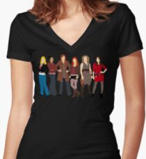 The Companions  Women's Fitted V-Neck T-Shirt