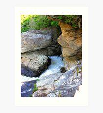 Linville Falls, North Carolina, U.S.A. Art Print
