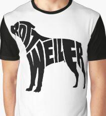 Rottweiler Black Graphic T-Shirt