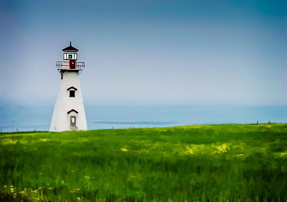 Cape Tryon Lighthouse - PEI by Wib Dawson