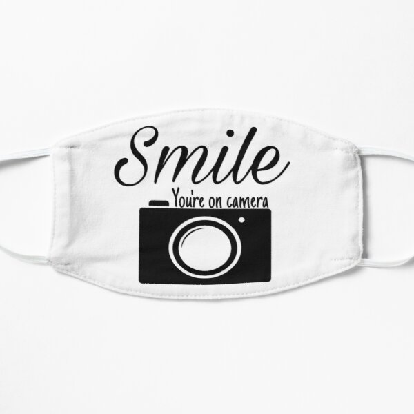 Smile you are on camera  Flat Mask