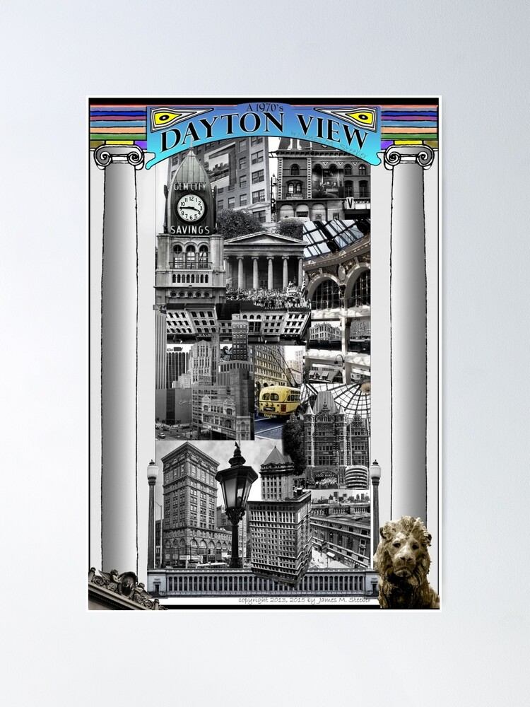 Alternate view of A 1970's Dayton View Poster 2015 Ed Poster