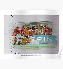British and Irish Lions Test winners 2013 Poster