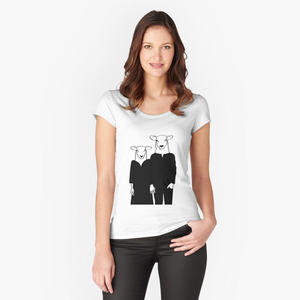 Black Sheep Fitted Scoop T-Shirt