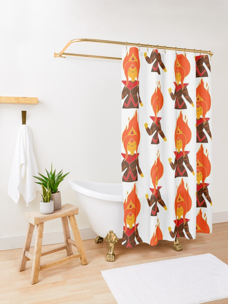 Alternate view of Flame Princess Shower Curtain