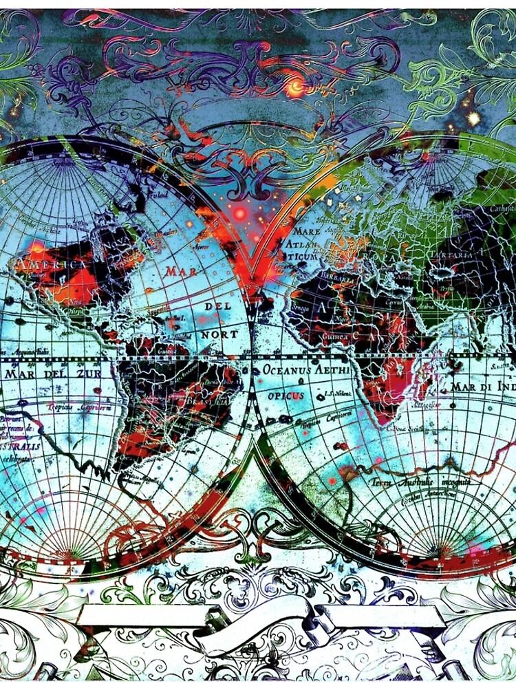 Weltkarte Antik 3 von BekimART