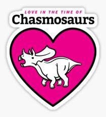 Love in the Time of Chasmosaurs logo: full color Sticker