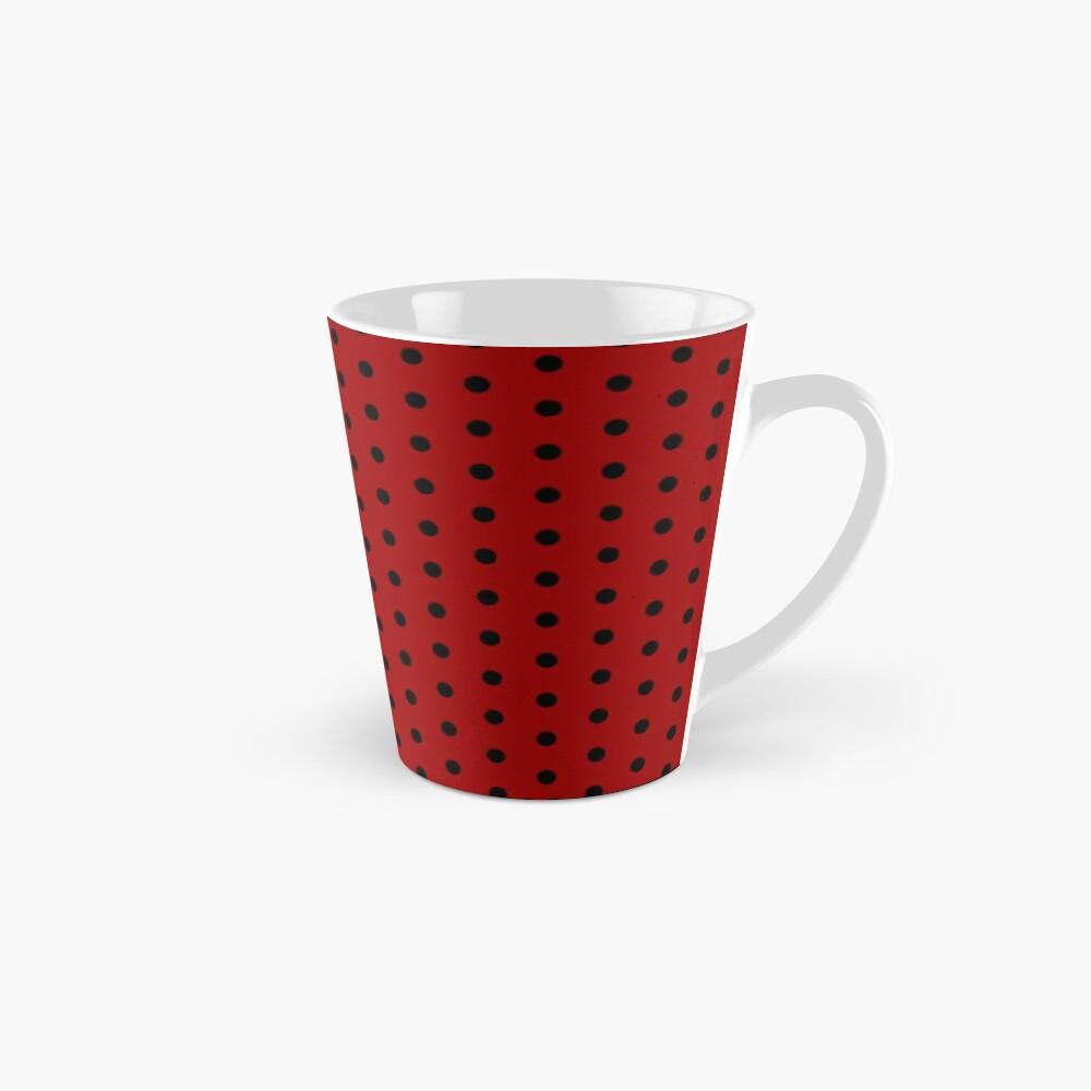 Inverted Red White Polka Dot Pattern Mug