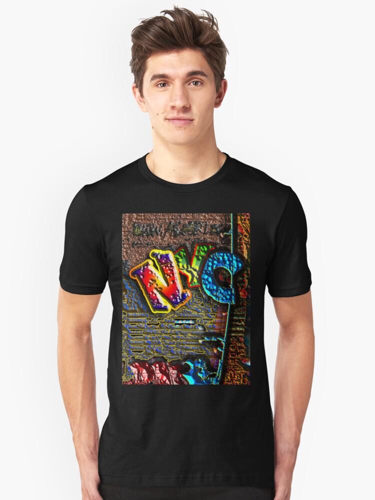 NYC GRAFFITI Unisex T-Shirt Front