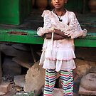 Village Girl in Varanasi by Alan Hovey