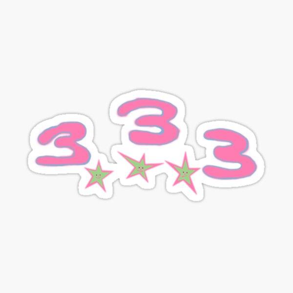 Bladee Drain Gang 333 logo Sticker