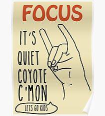 Quiet Coyote Poster