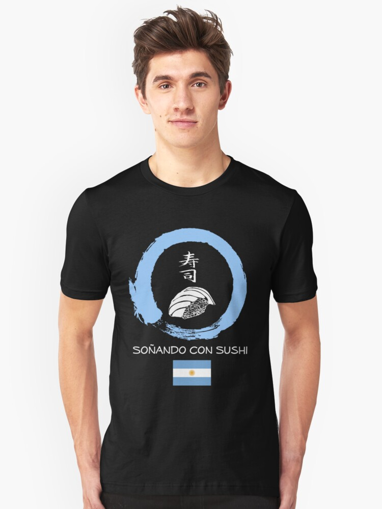 Dreaming of Sushi - Argentina Unisex T-Shirt Front