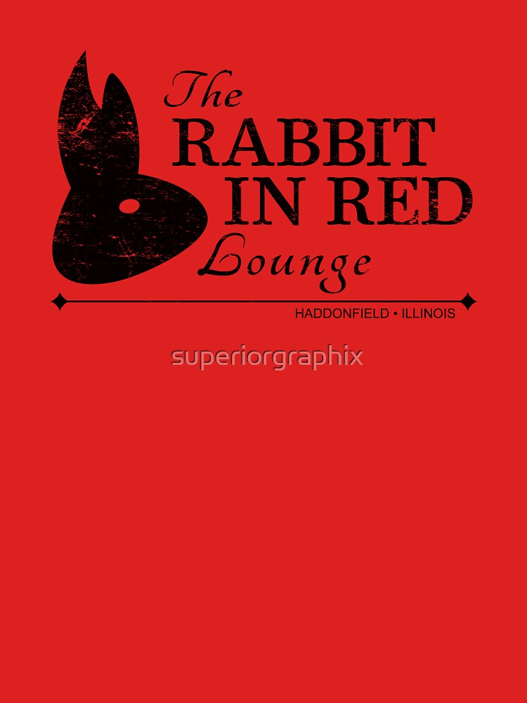 Rabbit in Red Lounge | Unisex T-Shirt