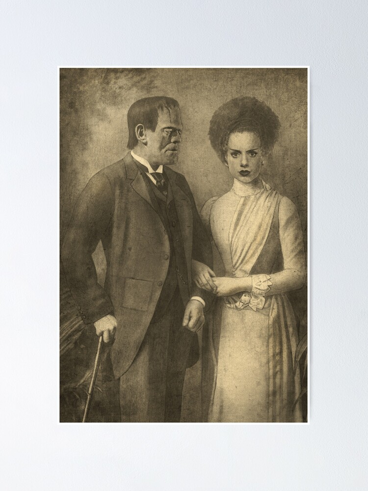 Quot Mr And Mrs Frankenstein Quot Poster By Terryfan Redbubble