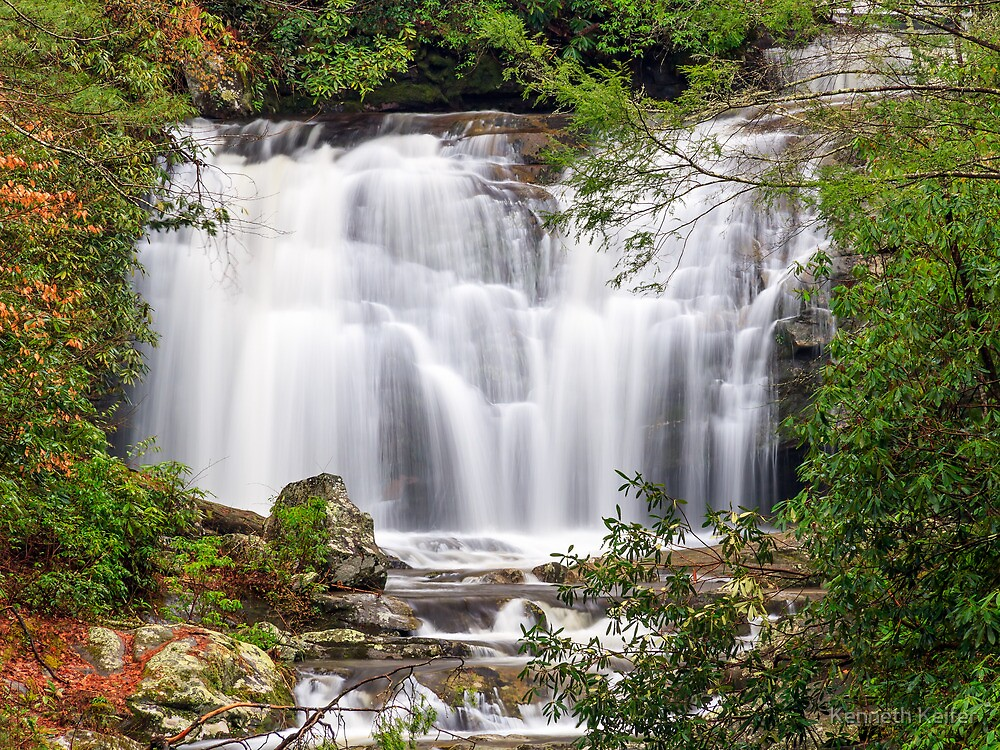Meigs Falls in the Great Smoky Mountains by Kenneth Keifer