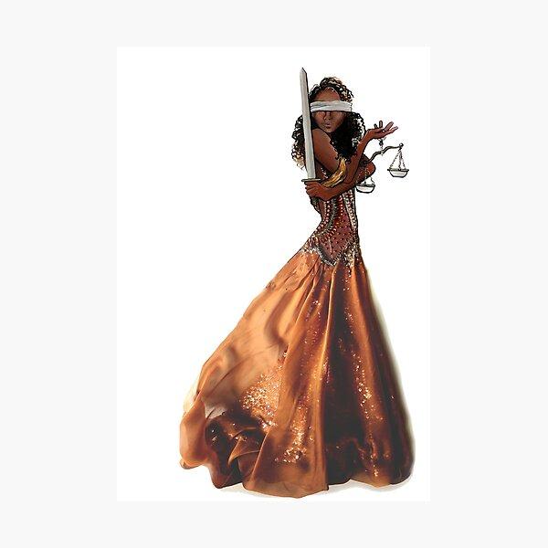 Black Justice Fashion Illustration Photographic Print