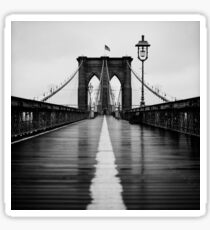 Brooklyn Bridge In Rain Sticker