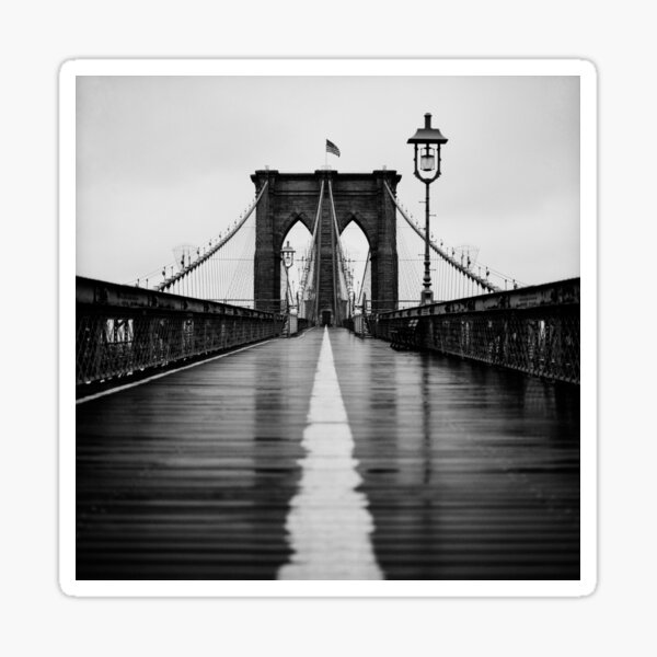 Brooklyn Bridge on Film Sticker