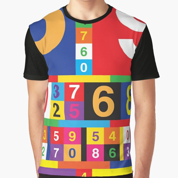 Coloured Numbers Graphic T-Shirt
