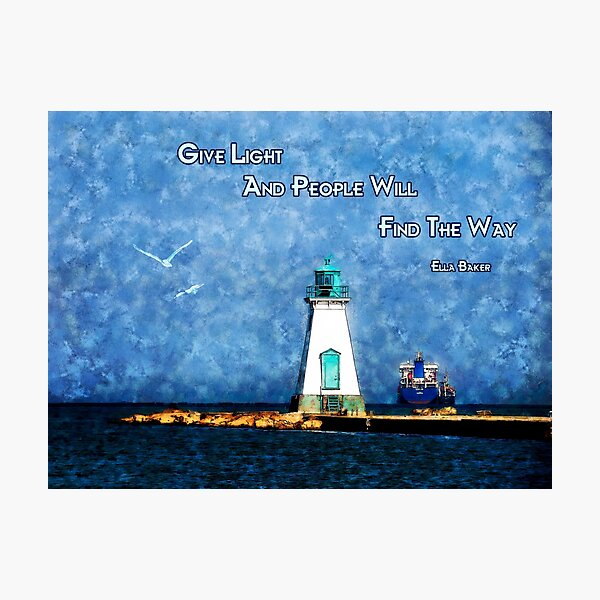 Port Dalhousie Lighthouse - Give Light Photographic Print