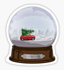 Christmas globe Sticker