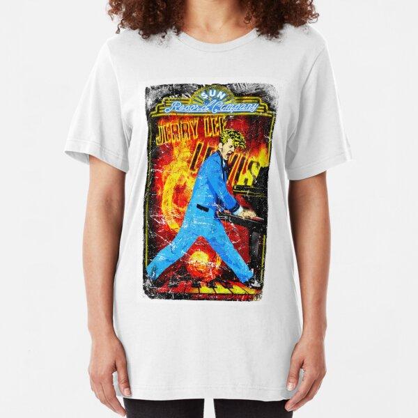 Jerry Lee Lewis. Sun Records. Memphis. TN. Million Dollar Quartet. Music. Slim Fit T-Shirt
