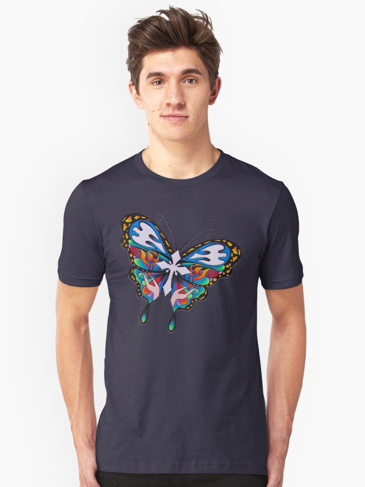 Christianity Butterfly Art Unisex T-Shirt Front
