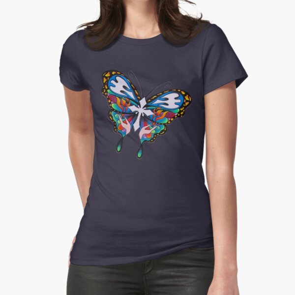 Christianity Butterfly Art Fitted T-Shirt