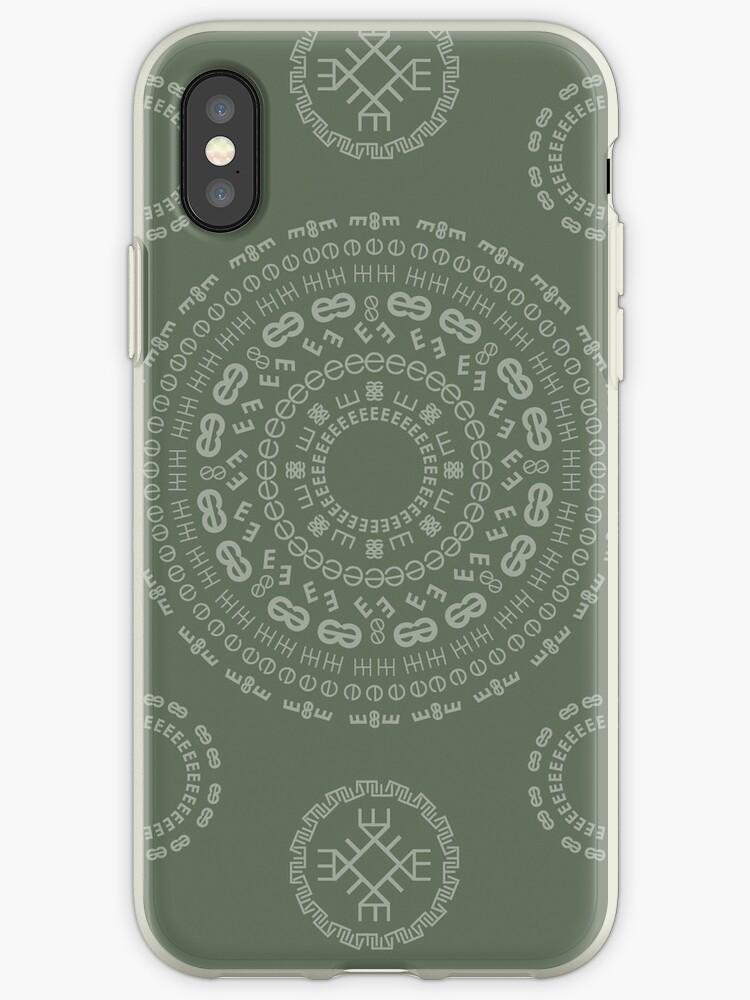 Monogram Pattern (E) in Deep Lichen by janna barrett