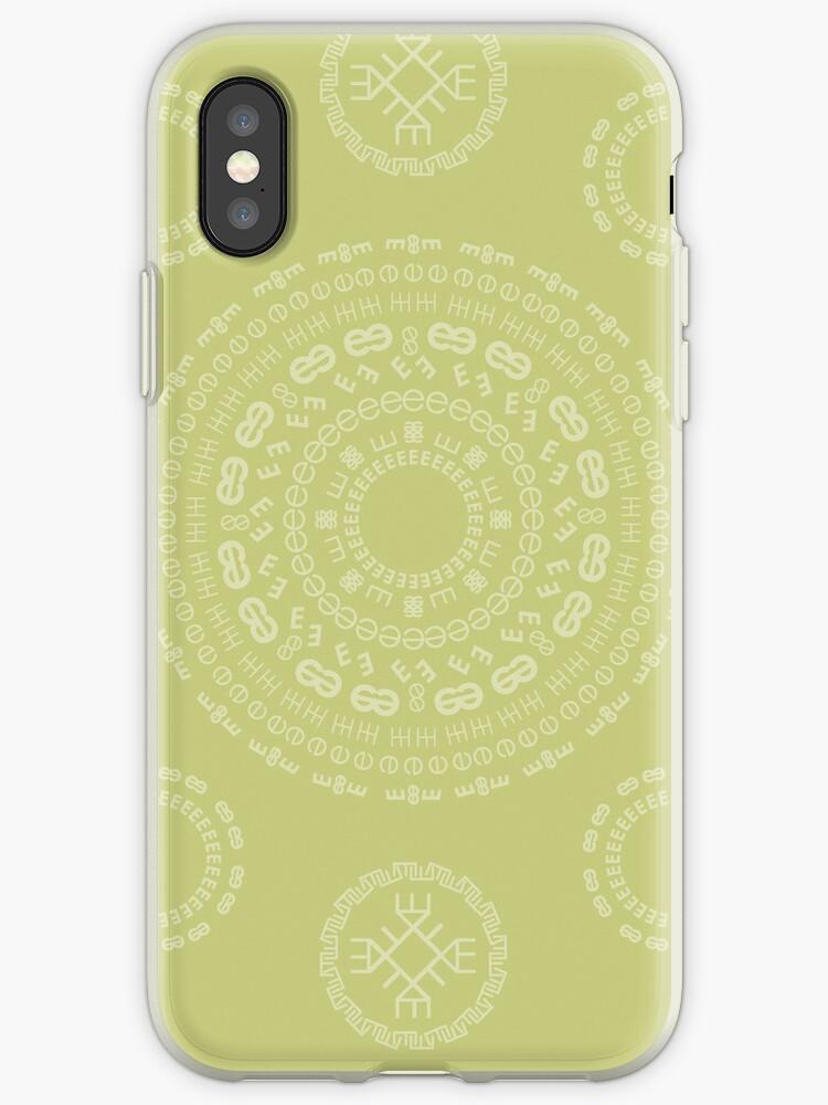 Monogram Pattern (E) in Lichen by janna barrett