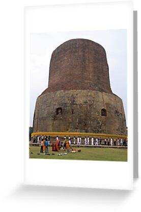 Korean Pilgrams at Sarnath India by renprovo