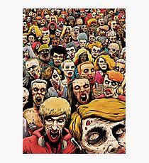 Zombie Horde Photographic Print