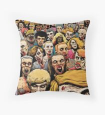 Zombie Horde Throw Pillow