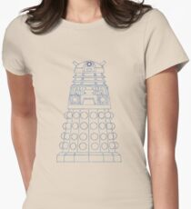 Dalek Blueprint Womens Fitted T-Shirt